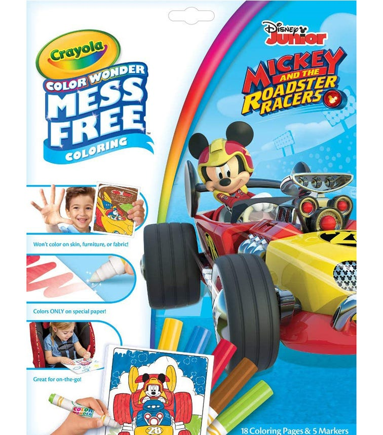 CRAYOLA Color Wonder Coloring Pad & Markers Mickey Mouse