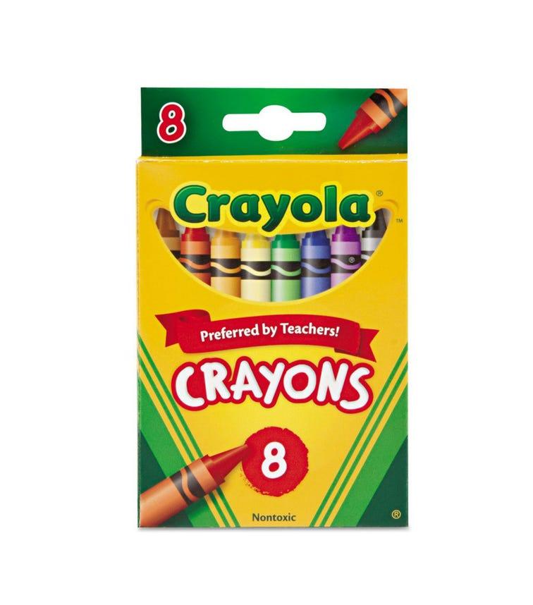 CRAYOLA 8 Crayon Set Crayons Peggable