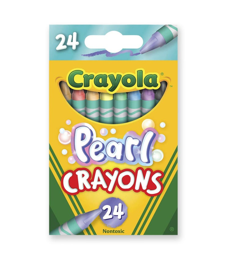 CRAYOLA 24 Crayon Set Pearl Crayons