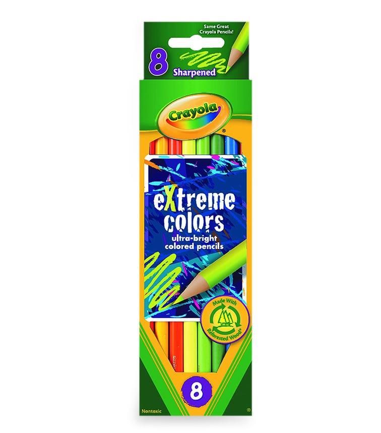 CRAYOLA 8 Crayon Set Extreme Colors Pencils