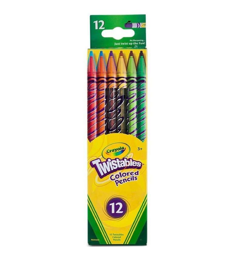 CRAYOLA 12 Crayon Set Twistables Colored Pencils