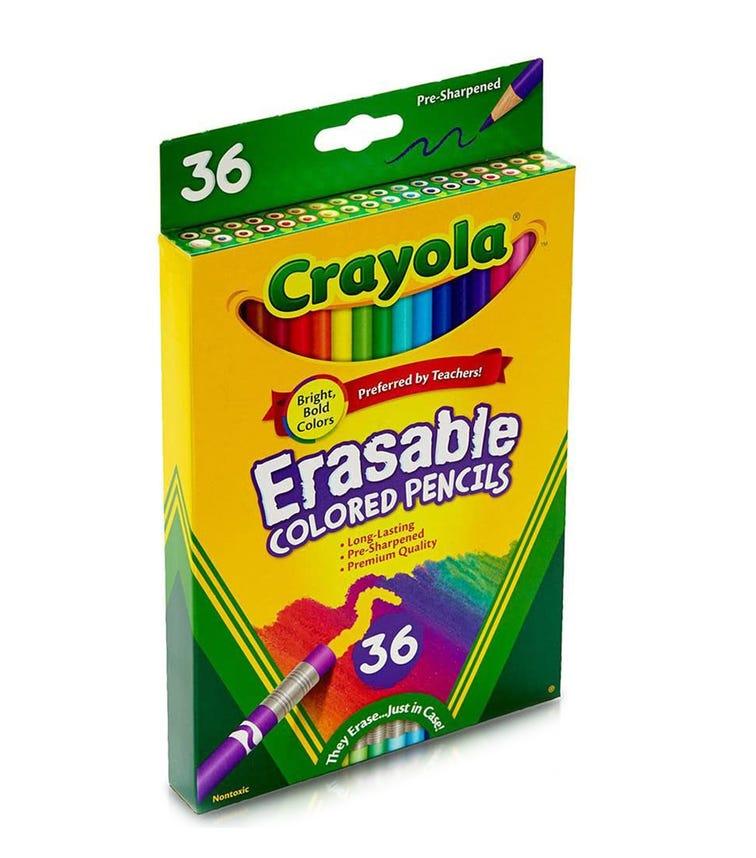 CRAYOLA 36 Crayon Set Erasable Colored Pencils