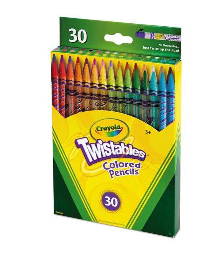 CRAYOLA 30 Crayon Set Twistables Colored Pencils