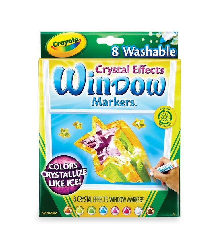 CRAYOLA 8 Crayon Set Washable Crystal Effect Crayon Sets Window Markers