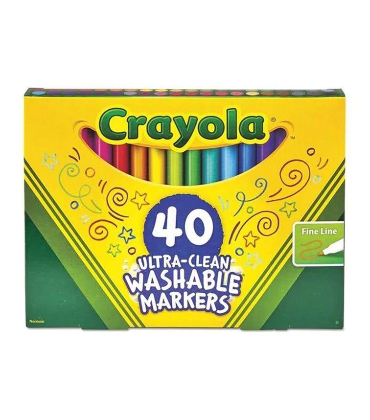 CRAYOLA 40 Ultraclean Washable Markers