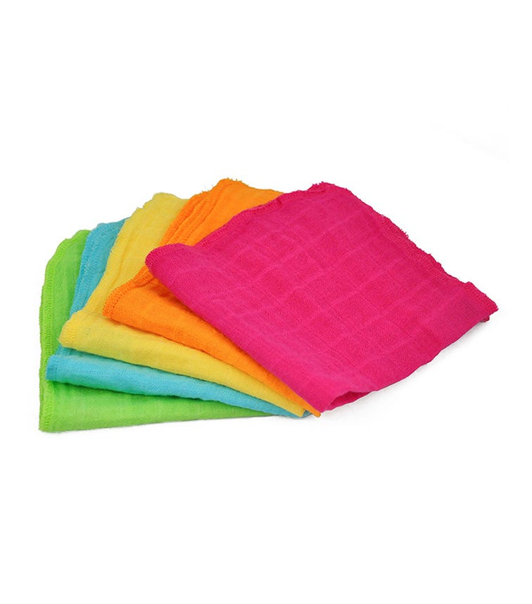 GREEN SPROUTS 5-pack Muslin Face Cloths Made From Organic Cotton (31 x 31 CM) - Pink Set