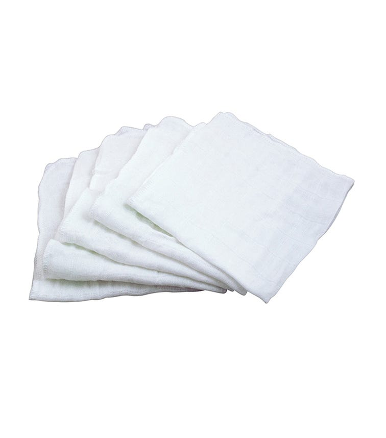 GREEN SPROUTS 5-pack Muslin Face Cloths Made From Organic Cotton (31 x 31 CM) - White Set