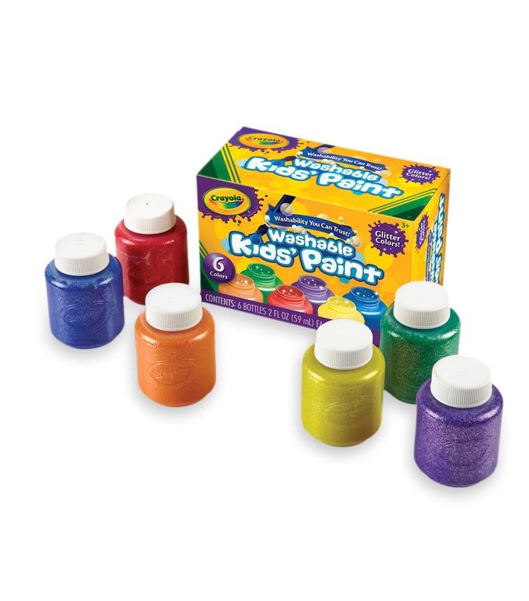 CRAYOLA 6 Crayon Set 2Oz Glitter Paint Set