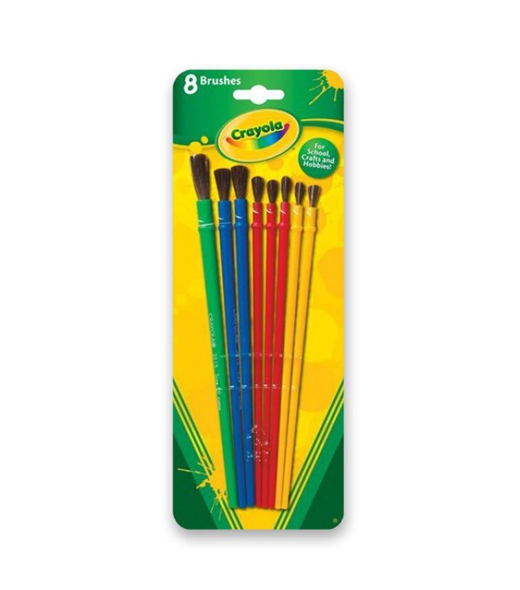 CRAYOLA 8 Crayon Set Art & Craft Brush Set Blister Pack