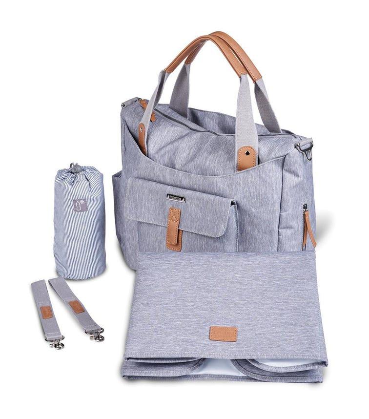BABABING  Roma 2 Changing Bag - Grey Marl