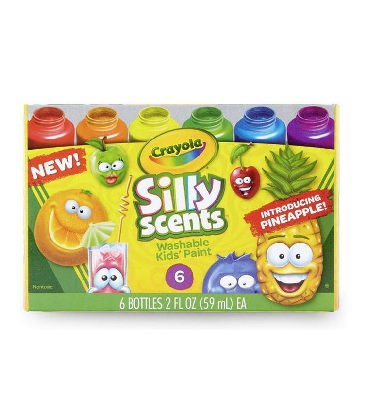 CRAYOLA 6 Crayon Set Silly Scents Washable Kids Paint
