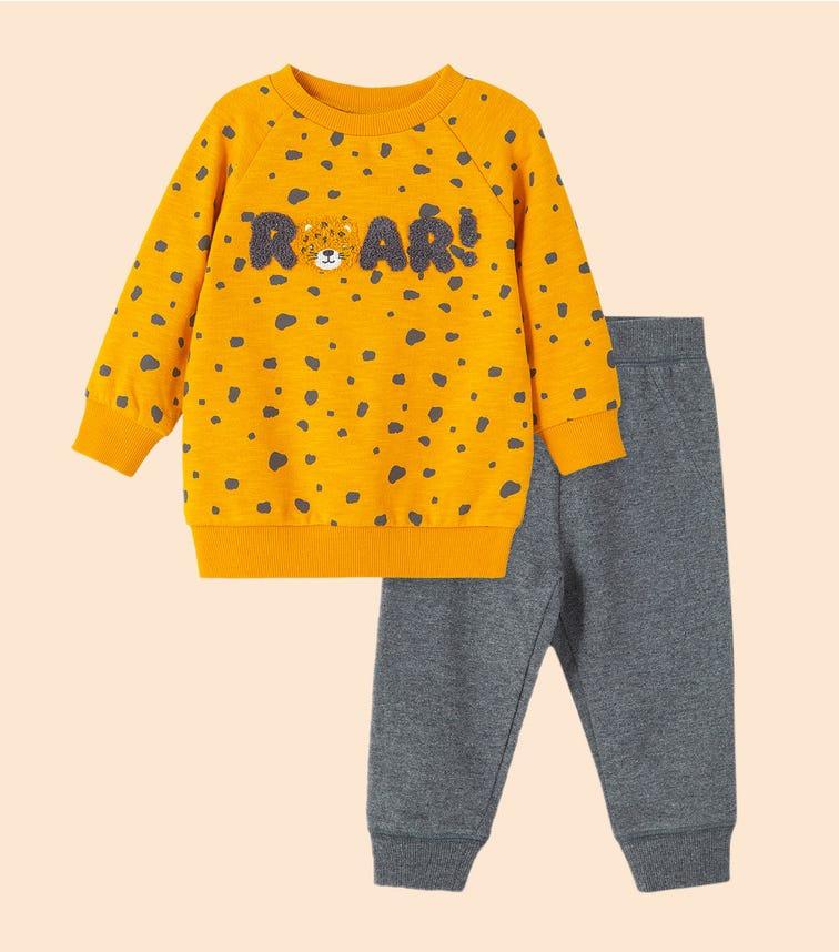LITTLE ME Roar 2-Piece Sweatshirt Set