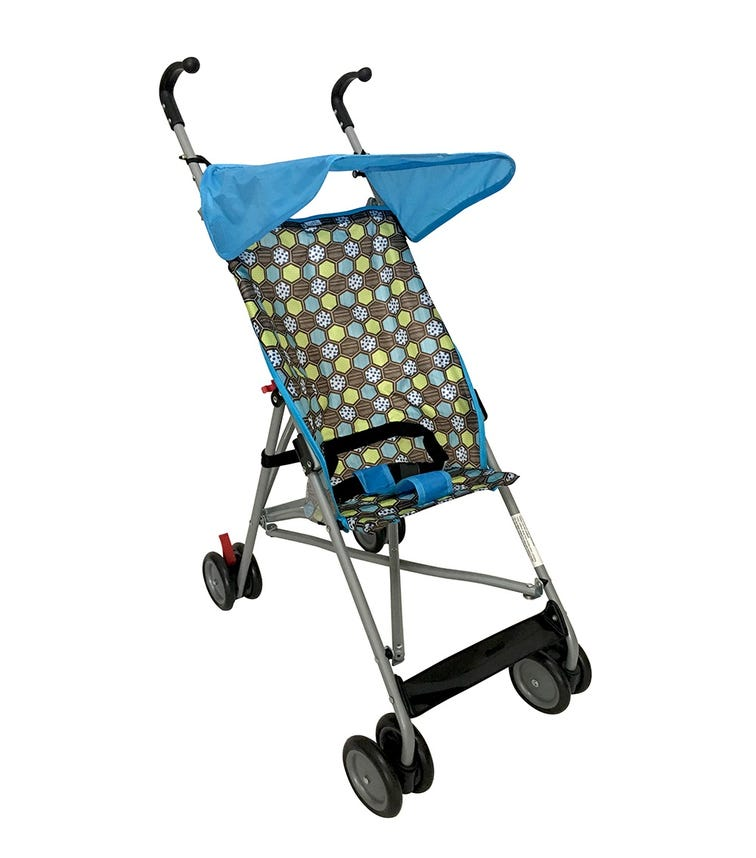 CUDDLES Buggy With Canopy Blue Multi-Floral