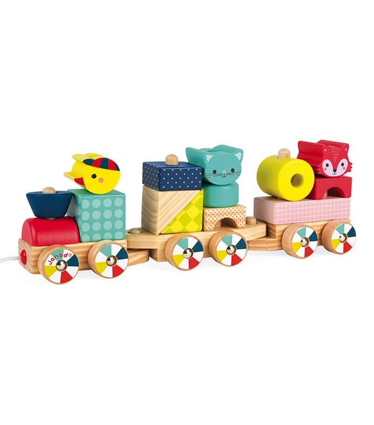 JANOD Wooden Baby Forest Train