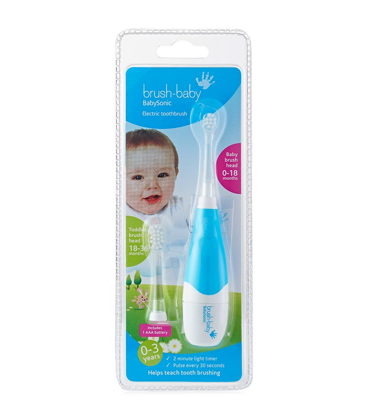 BRUSH BABY Sonic Electric Toothbrush (0-3Y) - Blue
