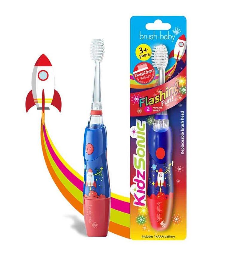 BRUSH BABY New Kidz-Sonic Electric Toothbrush - Rocket