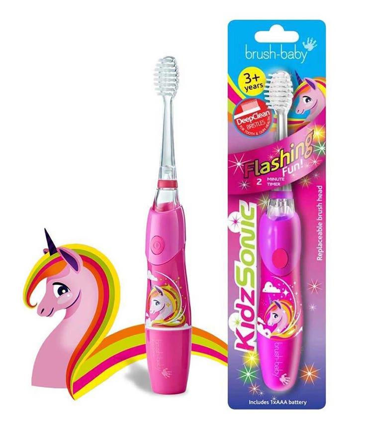 BRUSH BABY New Kidz-Sonic Electric Toothbrush - Unicorn