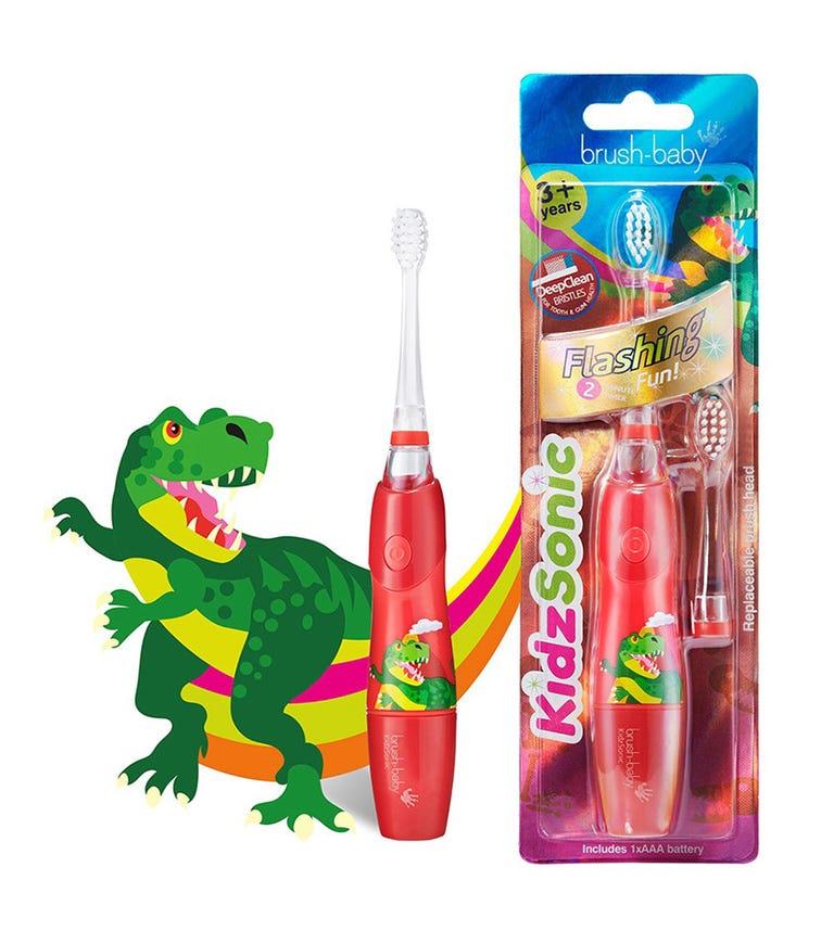 BRUSH BABY New Kidz-Sonic Electric Toothbrush - Dino