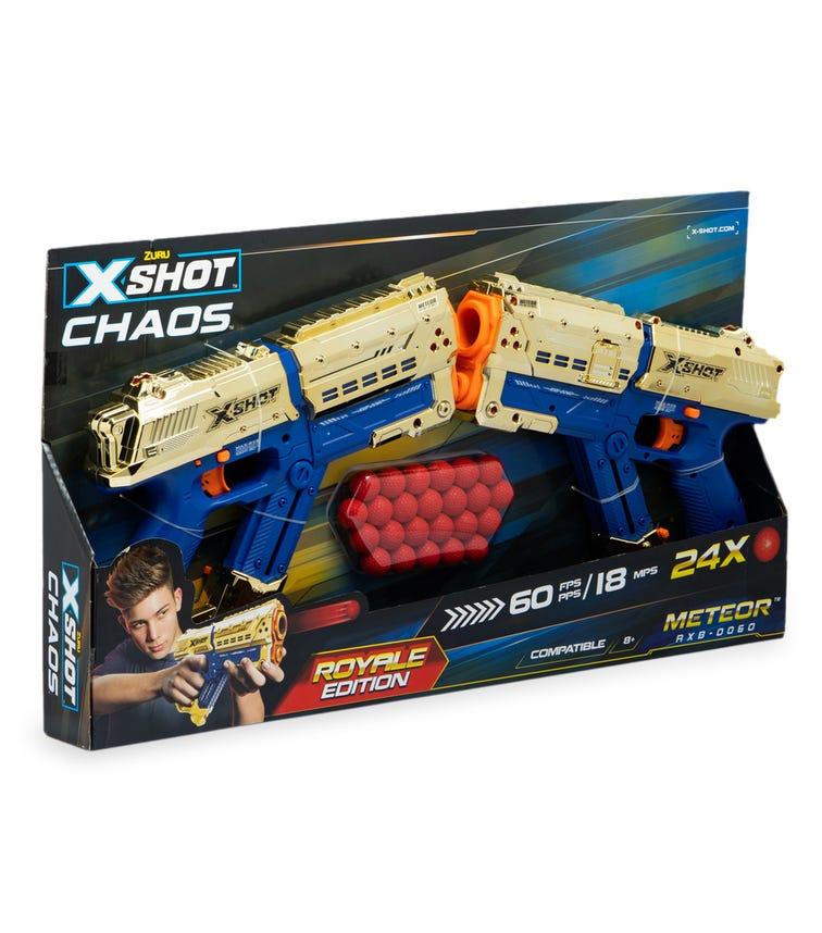 X-SHOT Dart Ball Blaster - Chaos Golden Orbit (1 Blaster & 24 Dart Balls) Pack Of 2