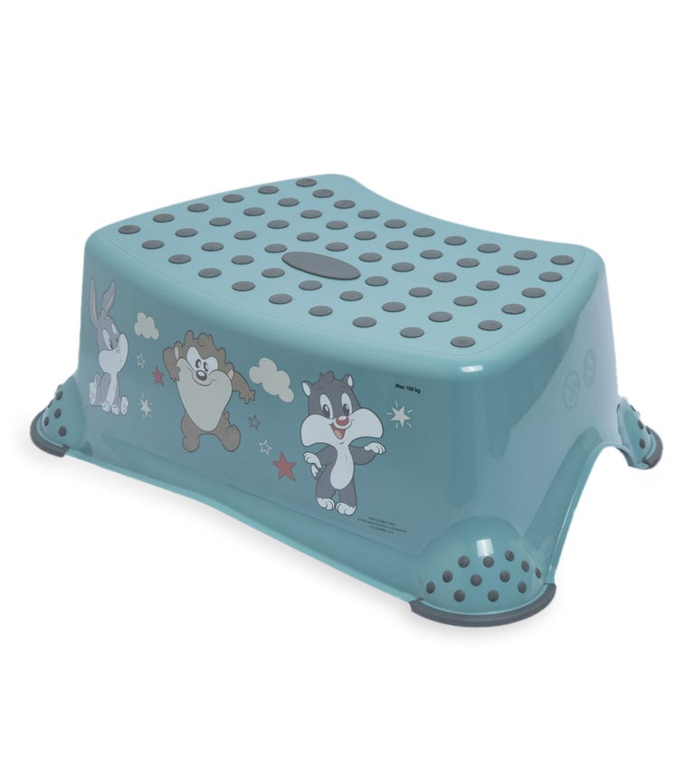OKT Step Stool With Anti-Slip Function - Looney Tunes Green