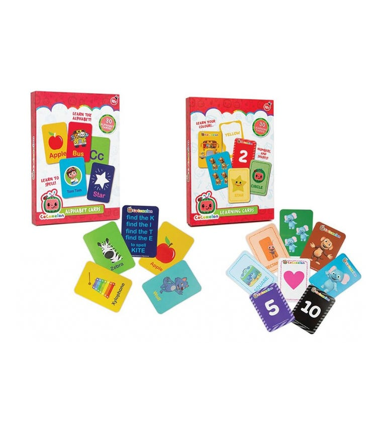 Cocomelon 30-Piece My First Learning Cards (Assorted)