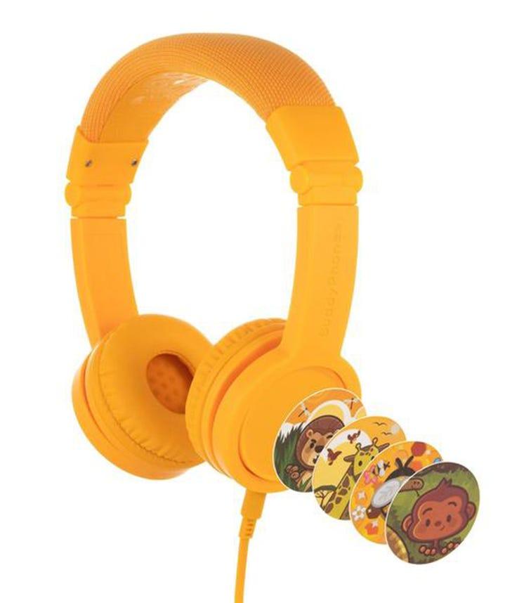 BUDDYPHONES Explore Plus Foldable Headphones With Mic - Sun Yellow