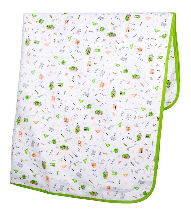 WONDER WEE Blanket - Green Stationery