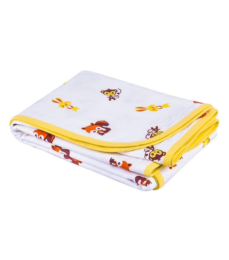 WONDER WEE Blanket - Yellow Animal