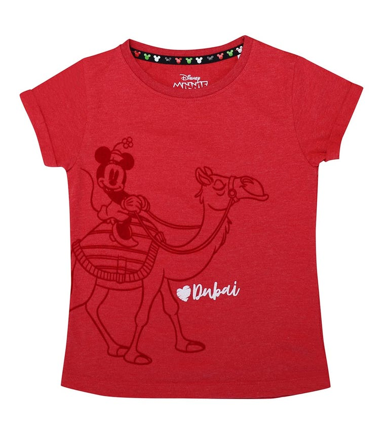 DISNEY Minnie Camel Girls T-shirt - Red