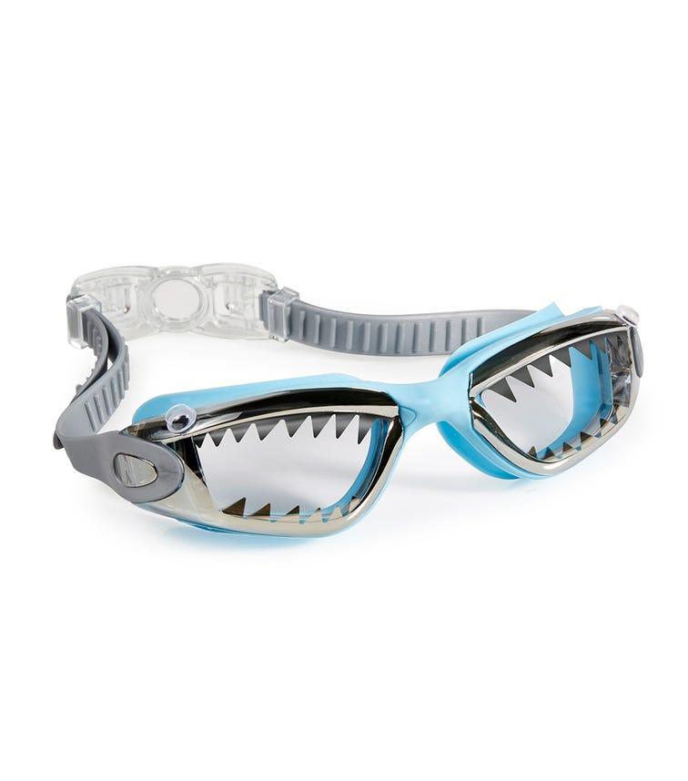 BLING2O Swim Goggles - Jawsome Baby Blue Tip Shark