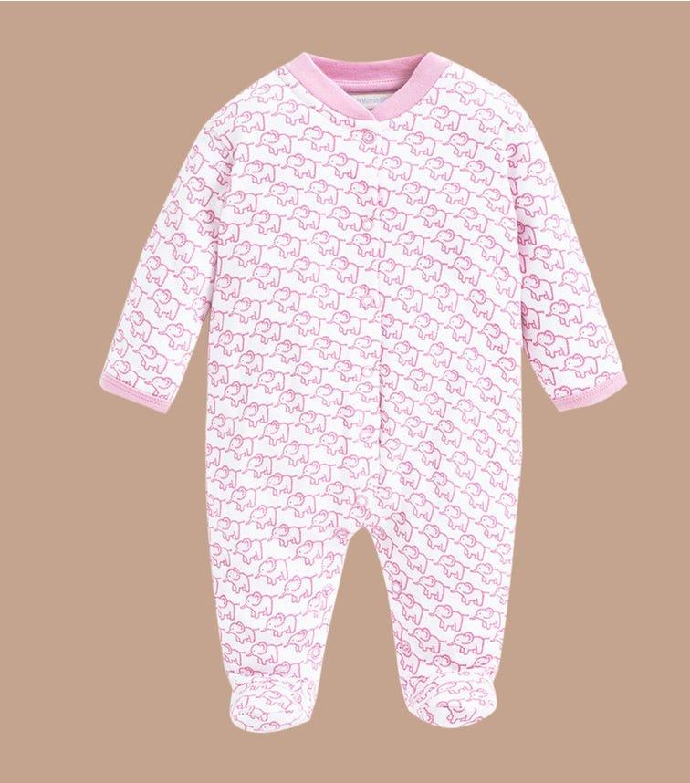 JOJO MAMAN BEBE Little Elephant Sleepsuit