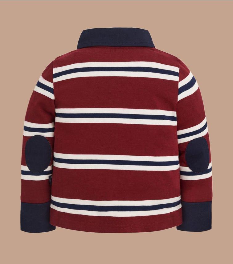 JOJO MAMAN BEBE Stripe Rugby Top