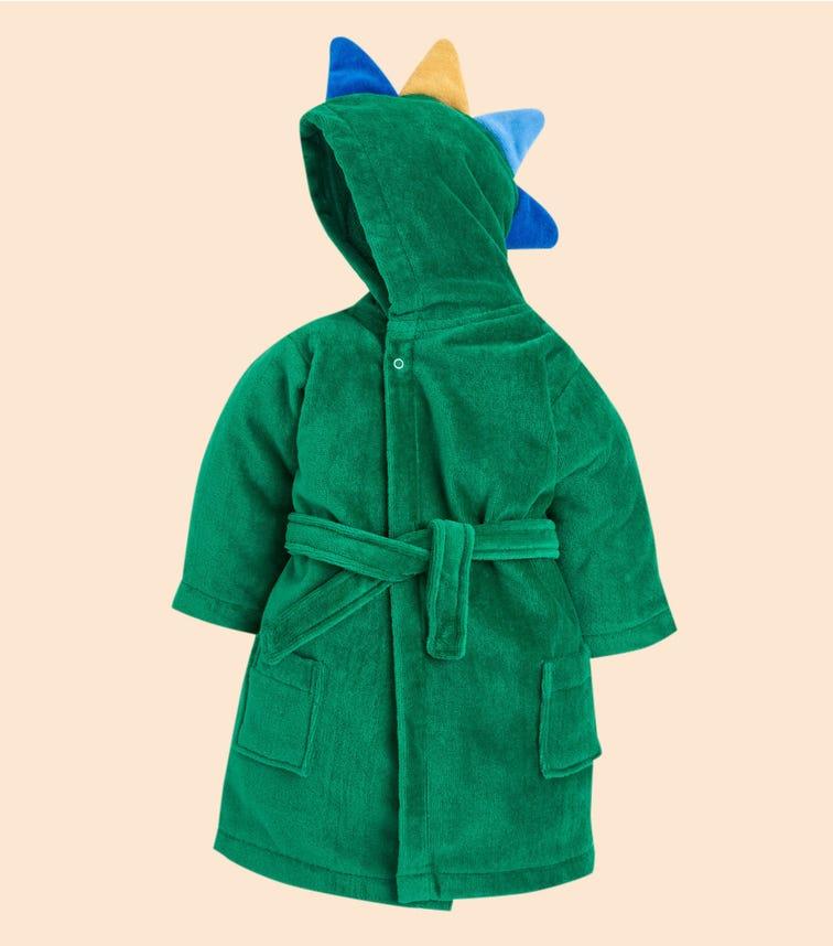 JOJO MAMAN BEBE Dinosaur Cotton Towelling Robe