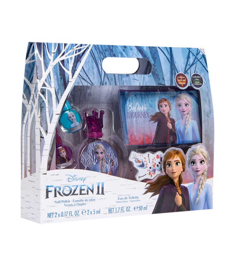 AIRVAL Frozen 2 Edt 50 Ml + Hair Clips + Purse + Manicure Accessories
