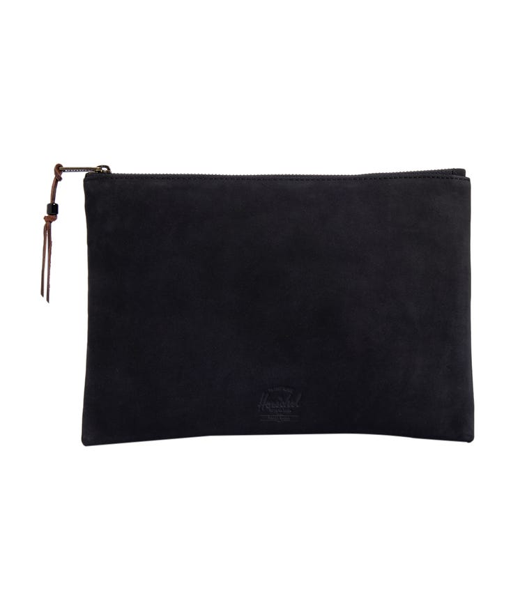 HERSCHEL Network Large Leather Pouch - Black Pink