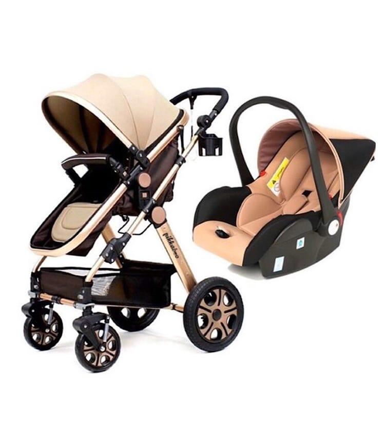 PIKKABOO 4-In-1 Luxury Stroller Travel System - Beige