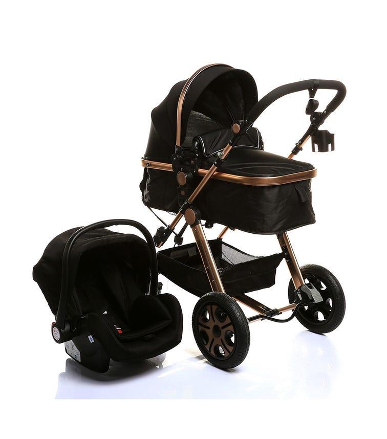 PIKKABOO 4-In-1 Luxury Stroller Travel System - Black