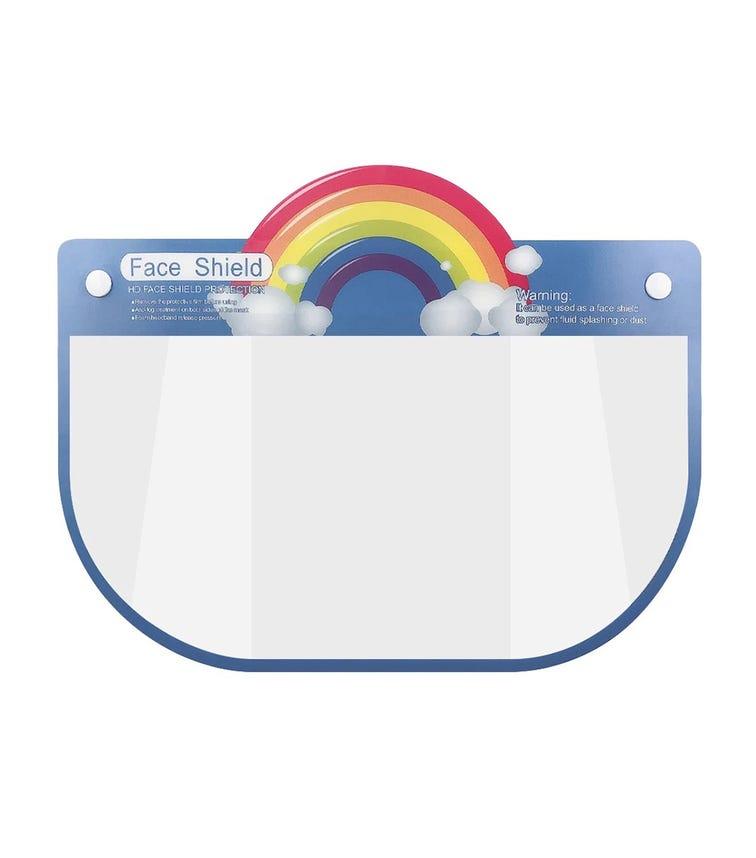 PIKKABOO Kids Protective Face Shield Elastic Visor - Rainbow
