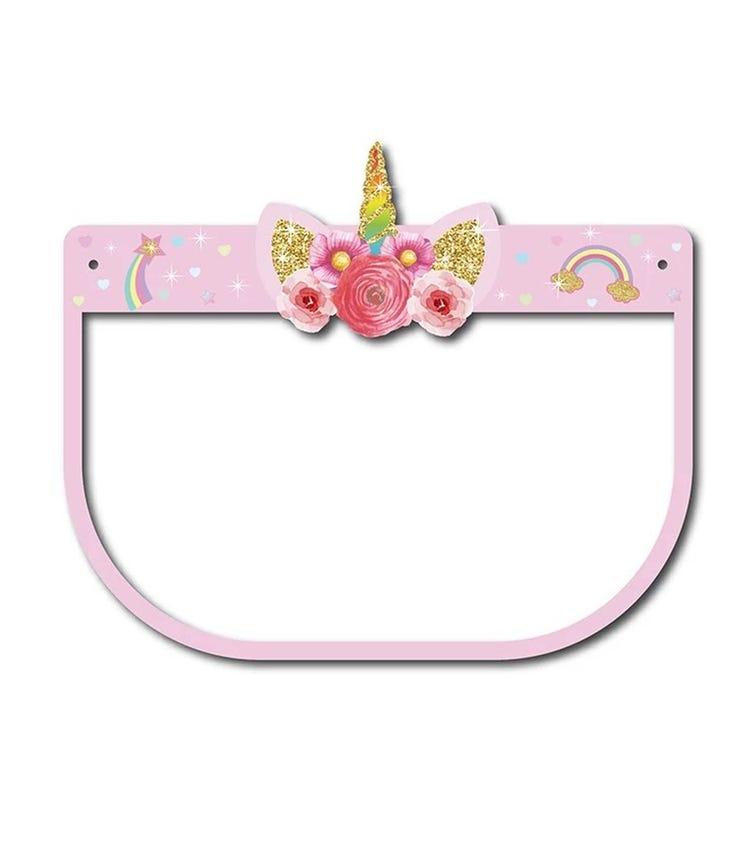PIKKABOO Kids Protective Face Shield Elastic Visor - Unicorn