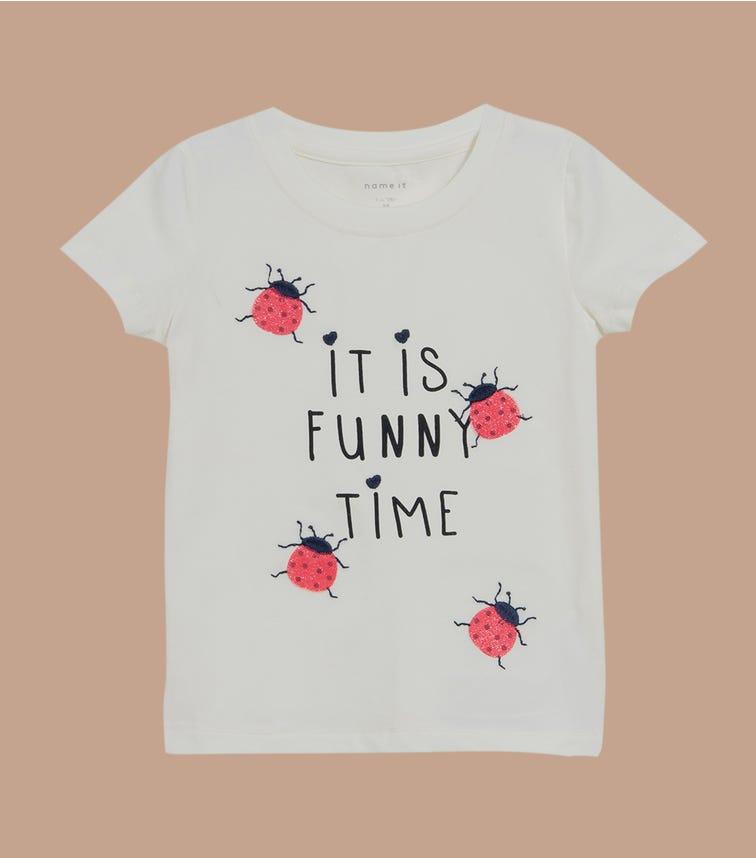 NAME IT Baby Girl Ladybug Printed T-Shirt
