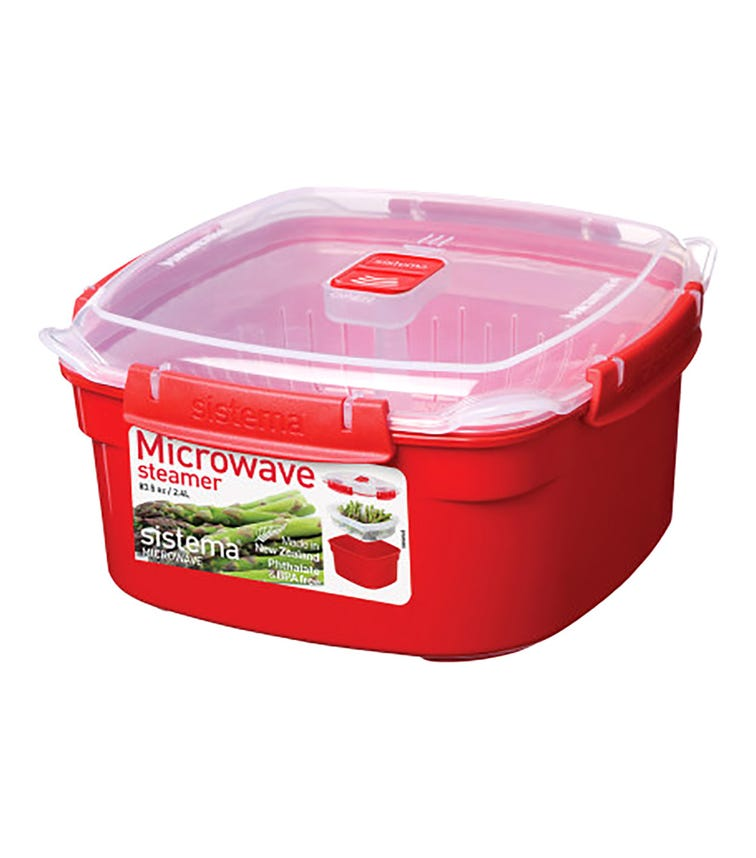 SISTEMA (Medium) Microwave Steamer - Red