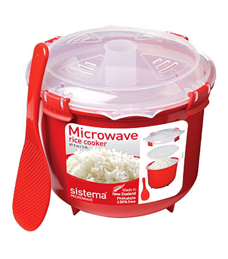 SISTEMA Microwave Rice Cooker - Red