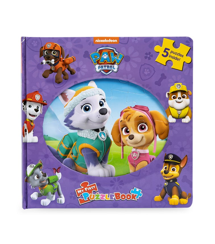 PHIDAL Nick Paw Patrol Girls My First Puzzle Book
