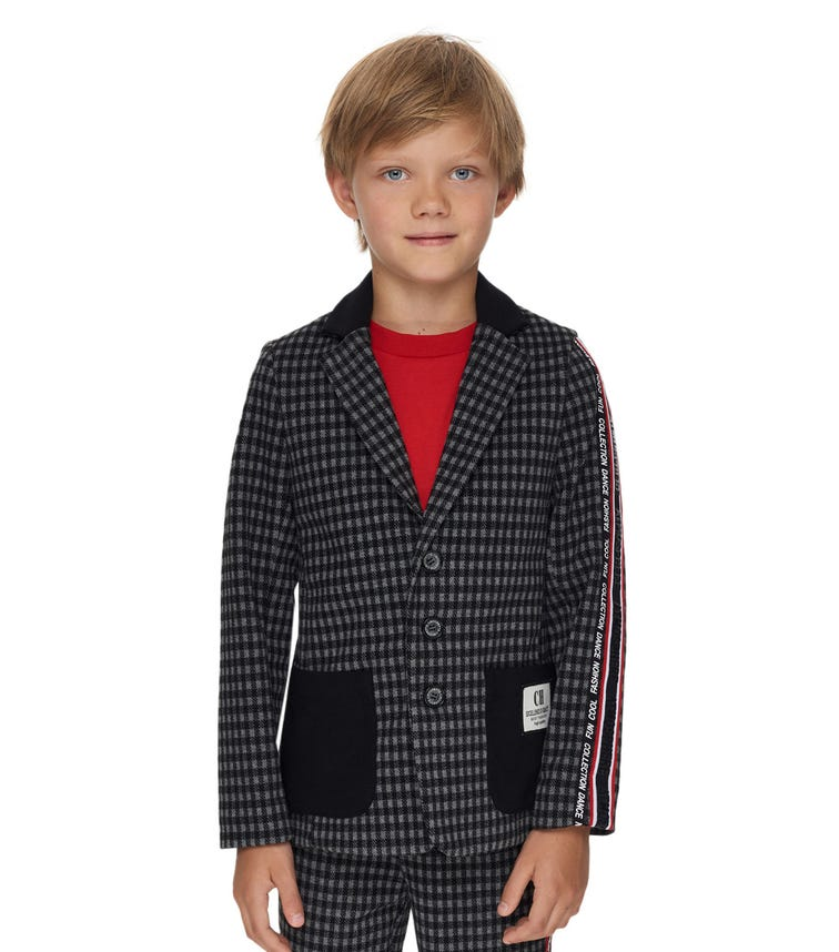 CHOUPETTE Checked Knitted Blazer