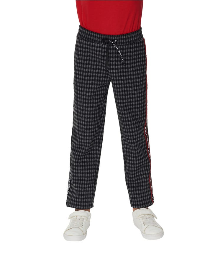 CHOUPETTE Checked Knitted Trousers