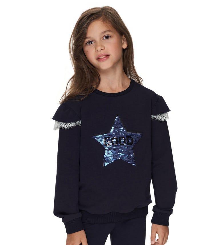 CHOUPETTE Winglets Sleeves Sweatshirt