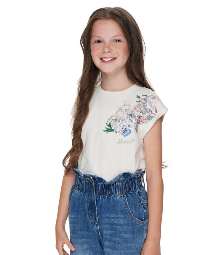 CHOUPETTE Flower Printed T-Shirt