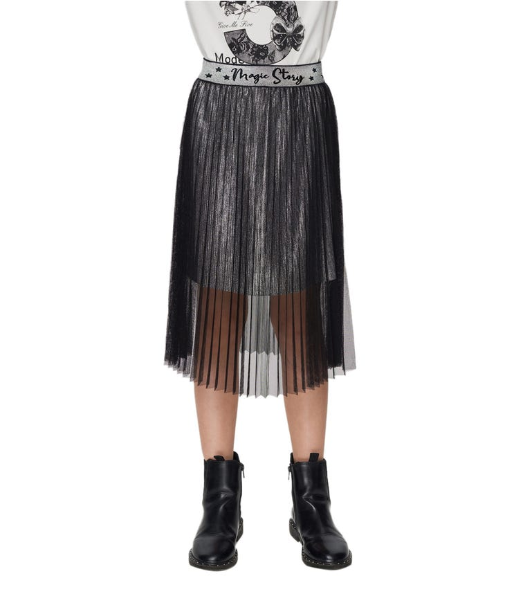 CHOUPETTE Double Pleated Skirt