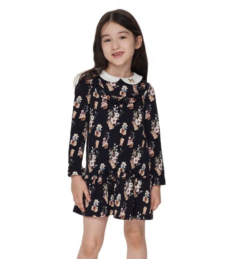 CHOUPETTE Peter Pan Collar Floral Dress