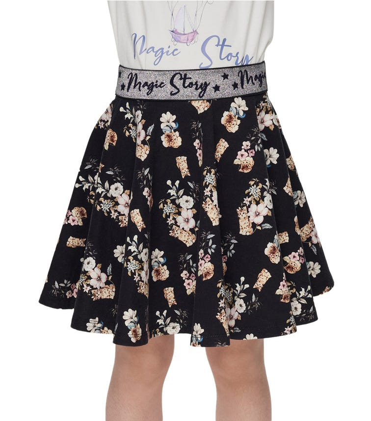 CHOUPETTE Elastic Band Floral Skirt